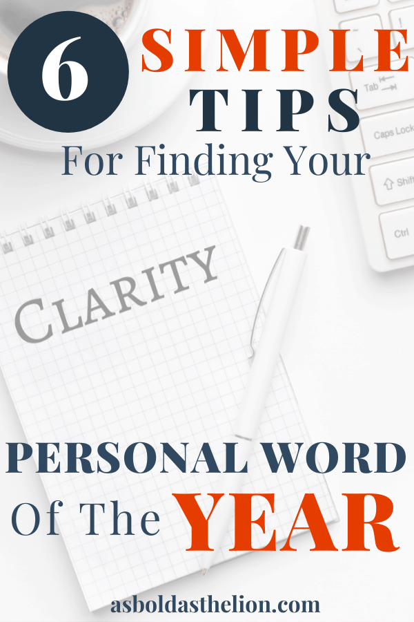 6 simple tips for finding your personal word of the year