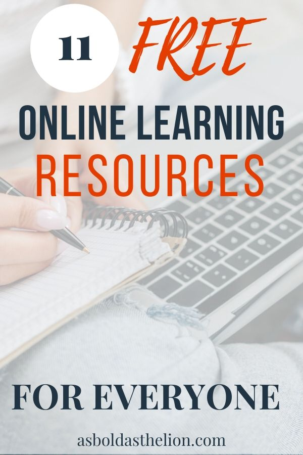 11 free online learning resources pin