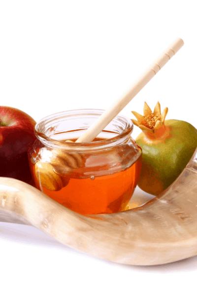 Shofar apples and honey